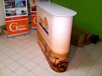 Information desk, Pop up counter size : 203W x 98.5H cm